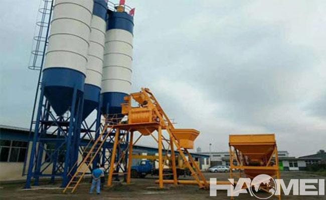 HZS mini concrete mix plant :: HAOMEI