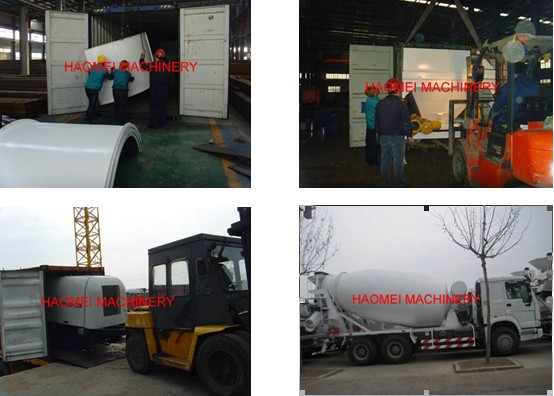 YHZS60 and 12cbm truck mixer delivering to Mongolia!