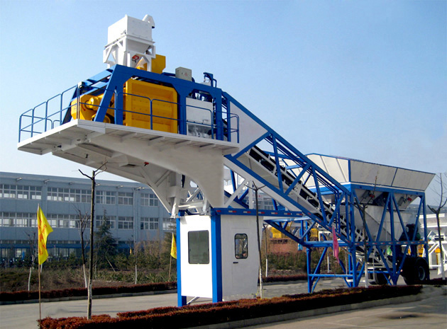 Cement Plant Machinery : Yhzs cement tower mixing plant price haomei