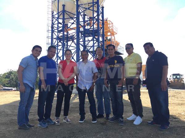 HZS75 concrete batching plant commissioning in manila today