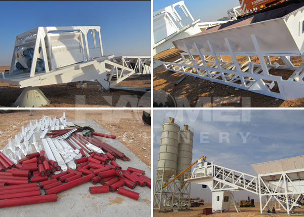 YHZS25 ready-mixed mobile concrete batching plant installation